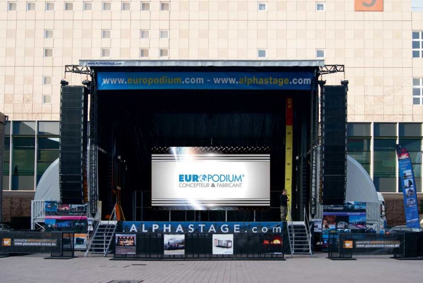 Podium mobile Alphastage 80 BIG Europodium