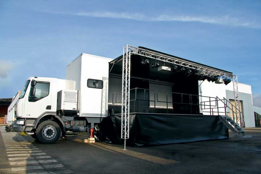 Podium mobile Alphatruck Europodium